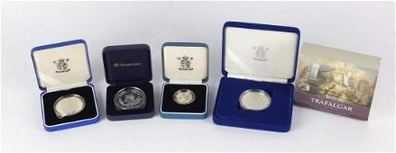 Silver proof coins with cases comprising The Battle of