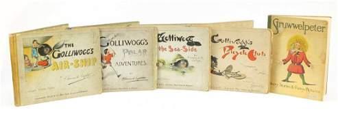 Five vintage children's books comprising Struwwelpeter