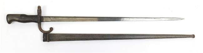 French military interest long bayonet scabbard, 66cm