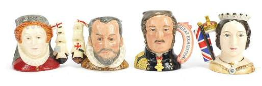 Four limited edition Royal Doulton character jugs,