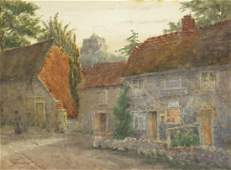 T Owen - St. Mary's Church from Ocklynge Road, Old