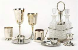 Silverplate and a silver christening tankard including