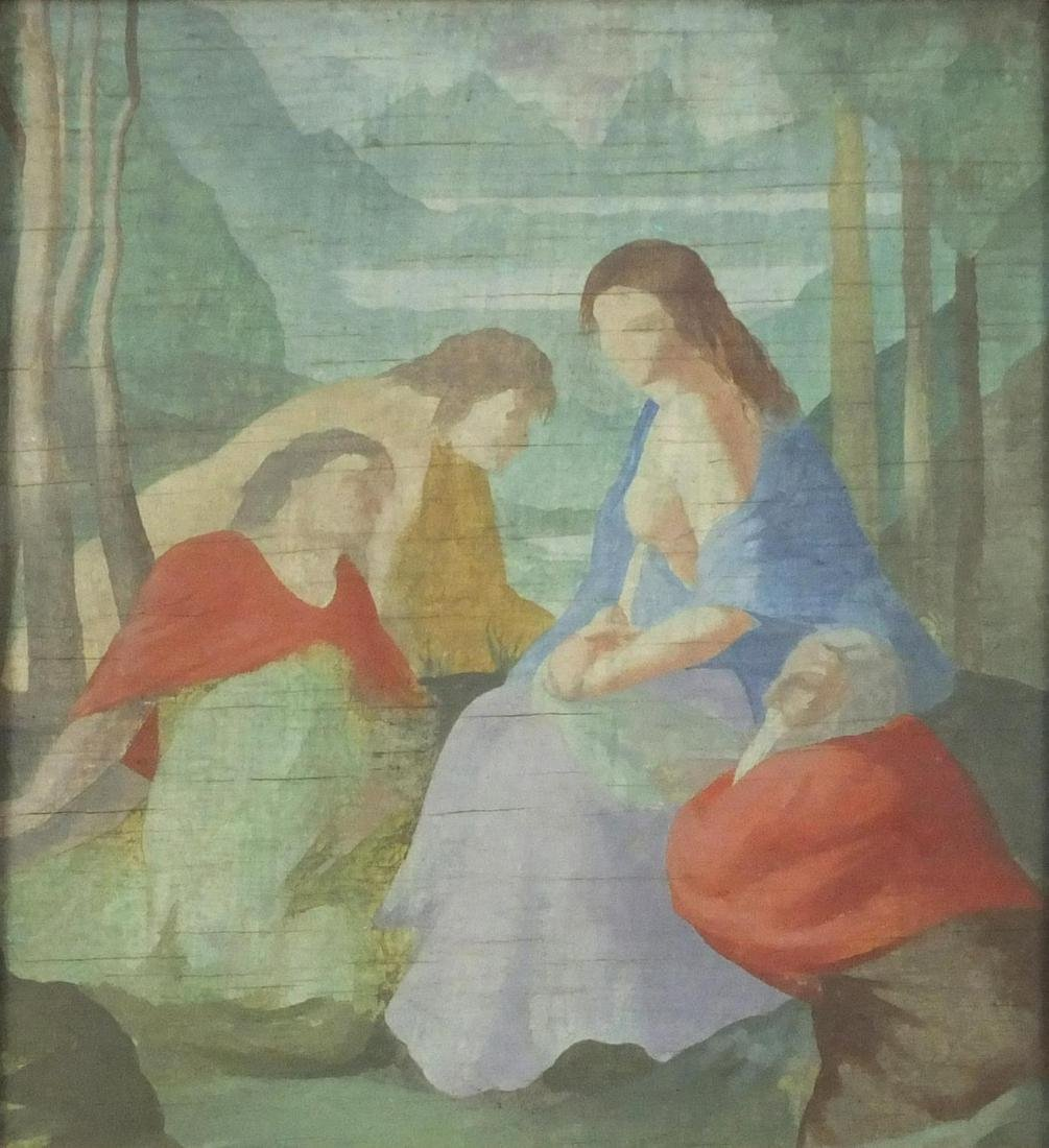 Attributed to Pierre de Chavannes - Four classical