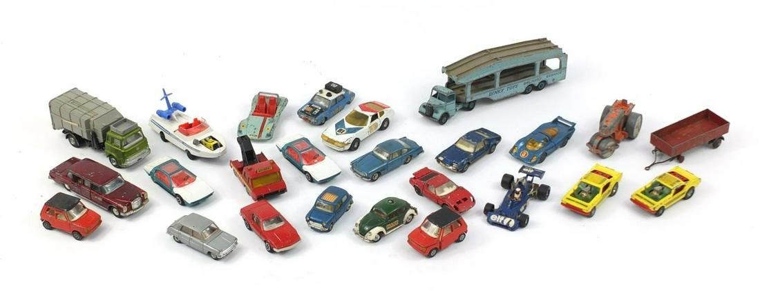 Vintage Dinky and Corgi die cast vehicles including