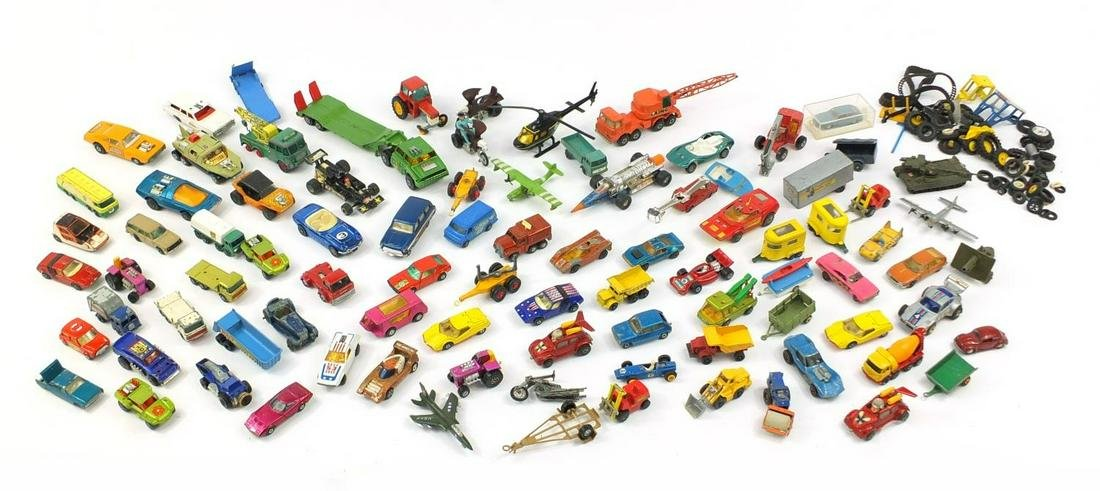 Vintage and later mostly die cast vehicles including