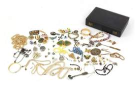 Vintage and later costume jewellery including rolled