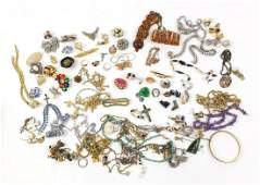 Vintage and later jewellery including enamelled