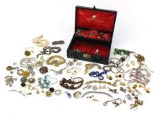 Vintage and later jewellery including a serpent brooch,