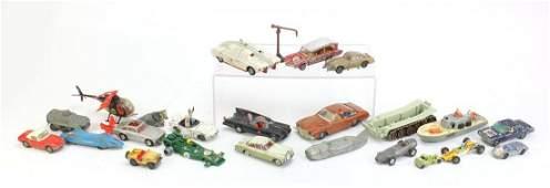 Vintage die cast vehicles including a Corgi Batmobile,