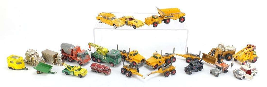 Corgi, Matchbox and Lesney diecast vehicles including