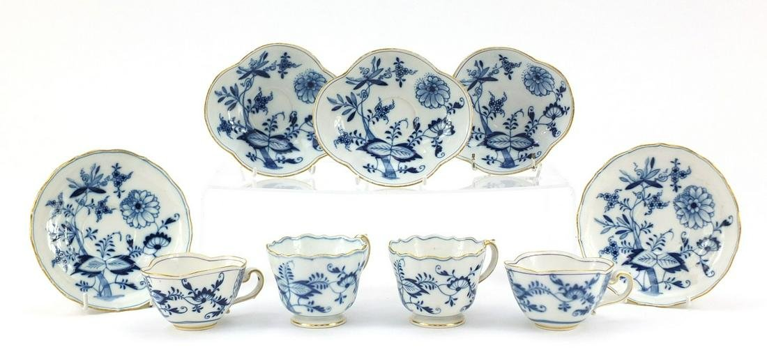 Meissen porcelain hand painted in the blue onion