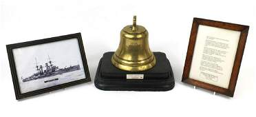 Naval interest bronze bell reputedly taken from the
