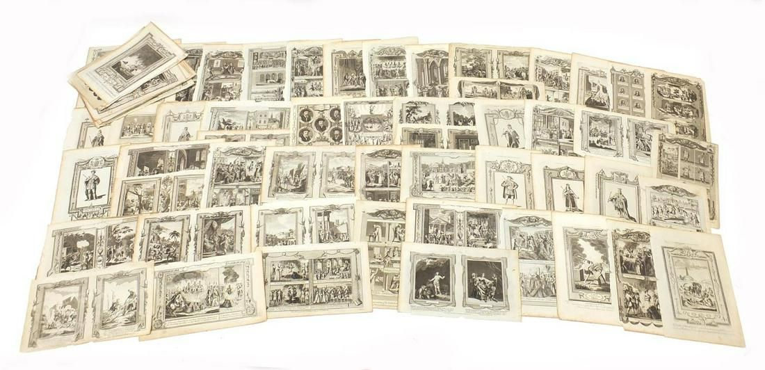 Collection of 18th century and later etchings including