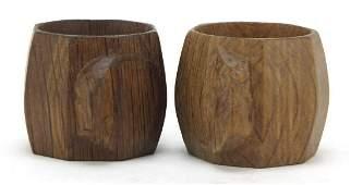 Robert Mouseman Thompson pair of octagonal adzed oak