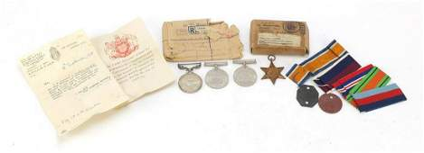British Military World War II four medal group with two