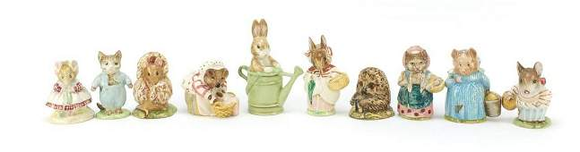 Ten Beswick Beatrix Potter figures comprising Mrs