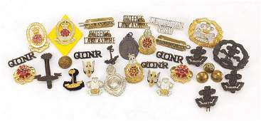 British military cap badges, medallions, buttons and