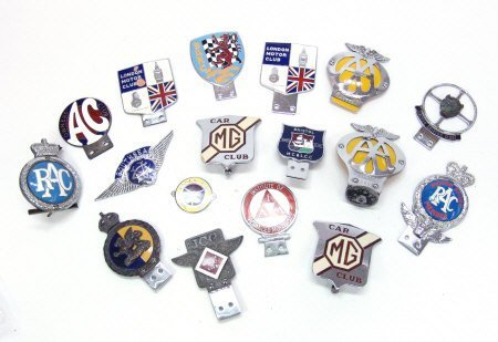 20: Collection of chrome and metal car radiator badges,