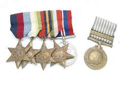 476: World War II military medal group comprising 1939-