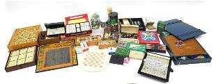 Vintage and later board games, cards, compendiums and