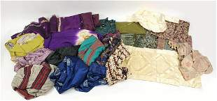 Collection of vintage and later clothing and material