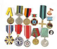 Twelve foreign military medals including Vietnamese