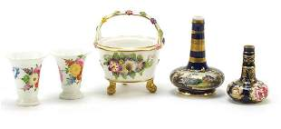 Early 19th century porcelain including a Derby floral