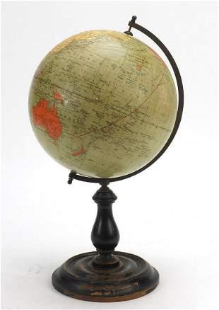 Philips British Empire terrestrial globe with bronzed