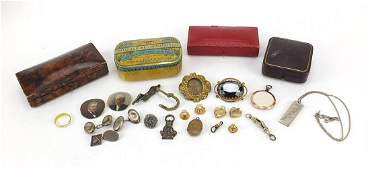 Antique and later jewellery and jewellery boxes