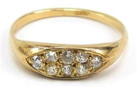 18ct gold diamond cluster ring, size Q, 2.9g; The ring