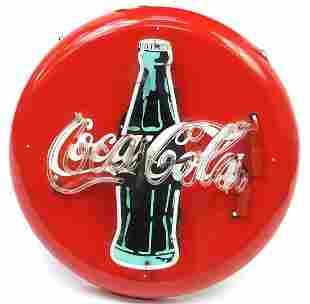 Illuminated Coca Cola advertising bar sign, 60cm in