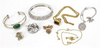 Antique and later jewellery including a Victorian