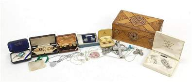 Vintage and later costume jewellery including enamelled