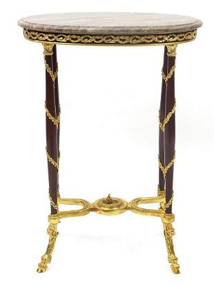 French Empire style gilt bronze mounted occasional