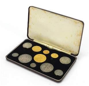 Victoria Jubilee head 1887 gold and silver specimen