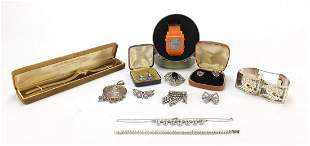 Costume jewellery and wristwatches including a sterling