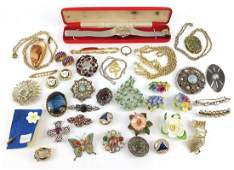 Vintage and later costume jewellery including a Montine