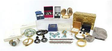 Vintage and later costume jewellery including a Trifari