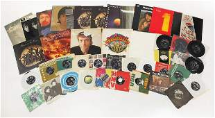 The Beatles and related vinyl LP's and 45rpm records