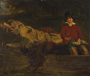 Frederick Richard Lee, RA - Young boy on a boat with