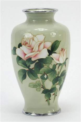 Ando, Japanese cloisonné vase enamelled with