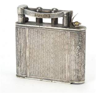 Novelty Art Deco silver plated faux Dunhill lighter