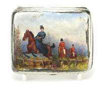 Howard James, Victorian silver and enamel cigarette