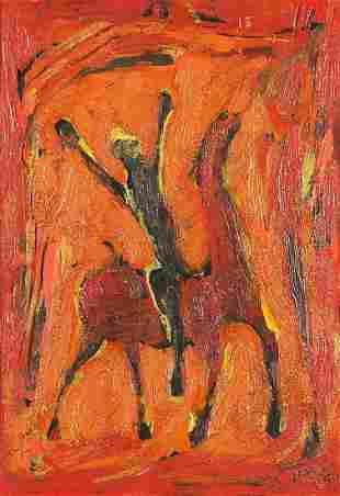 Style of Marino Marini - Figure on horseback, Italian