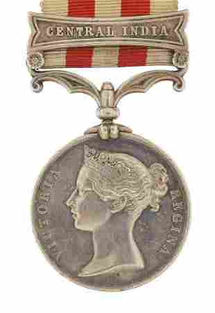 Victorian British military Indian Mutiny medal with