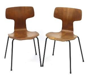 Arne Jacobsen for Fritz Hansen, pair of vintage Danish