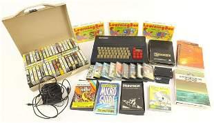 Vintage Spectrum and games including Soviet Fighter MIG