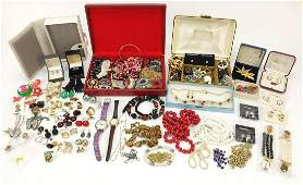 Vintage and later costume jewellery including silver