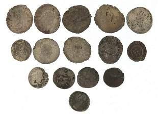 Fifteen Roman silver coins including denarii, the