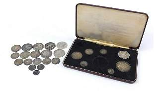 Victorian silver coinage including a part Jubilee